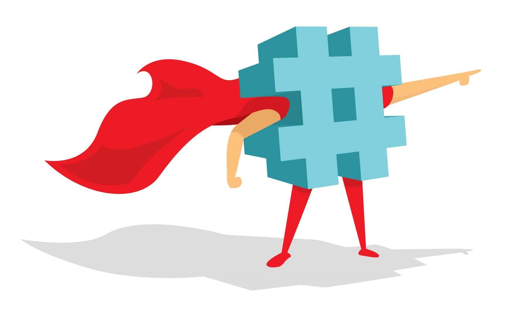 شبکه های اجتماعی هشتگ نویسی